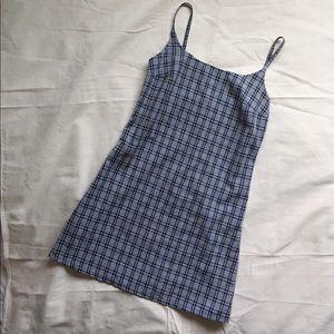 Vintage 90's GUESS Strap Plaid Dress